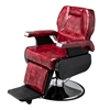 Classic Large Barber Chair Wine Red