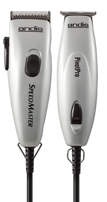Andis Pivot Motor Combo Adjustable Clipper / Trimmer  Silver