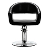 Hair Salon Barber Chair Classic Volume of The Back Chair Black