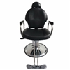 Barber Chair with Headrest Black