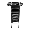 YC-Q7 5 Tiers Hairdresser Beauty Storage Trolley Black