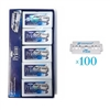 Dorco Prime Platinum STP-301 Double Edge Blades (100 Blades) - Double Coating, Extra Sharp, Less Irritation 